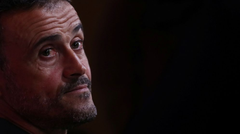Foto: Luis Enrique, durante su comparecencia de prensa en la Ciudad del Fútbol de Las Rozas. (EFE)
