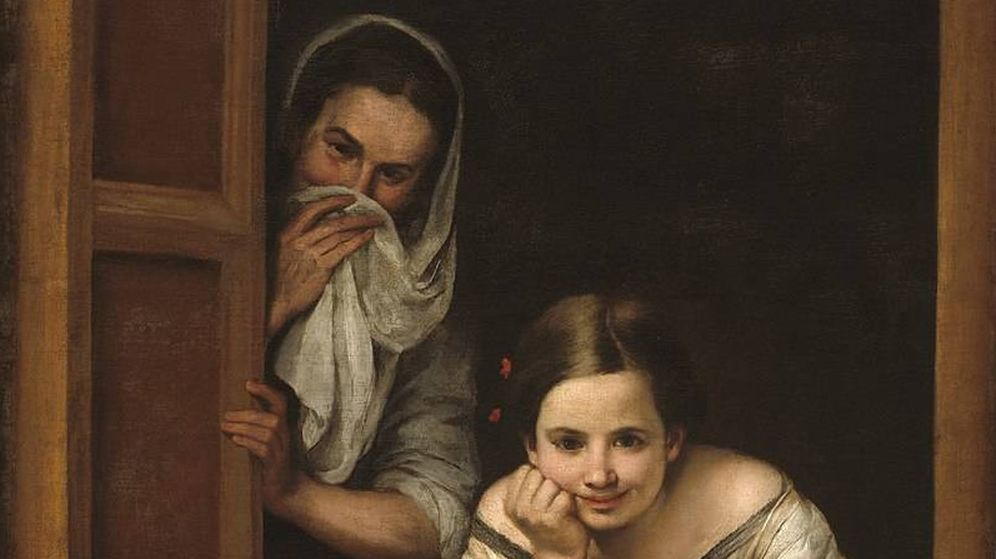 Foto: 'Mujeres en la ventana', de Bartolomé Esteban Murillo. (C.C)