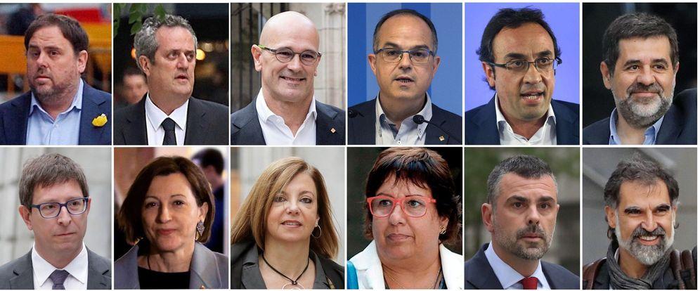 Foto: Los acusados en el juicio del 'procés'. (EFE)
