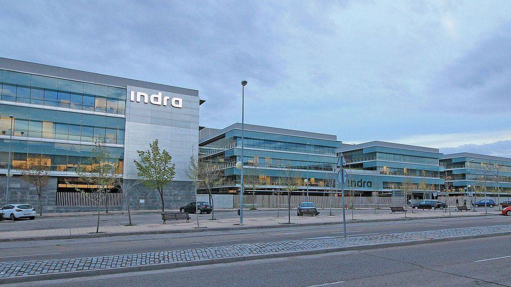 Foto: La sede de Indra en Alcobendas (Madrid).