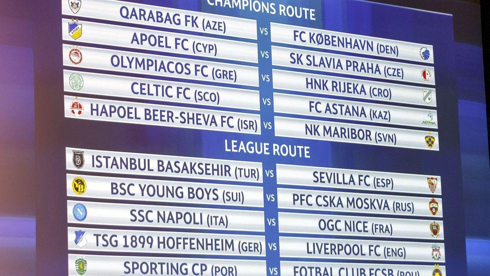 El Sevilla se medirá al Istambul Basaksehir en la previa de la Champions