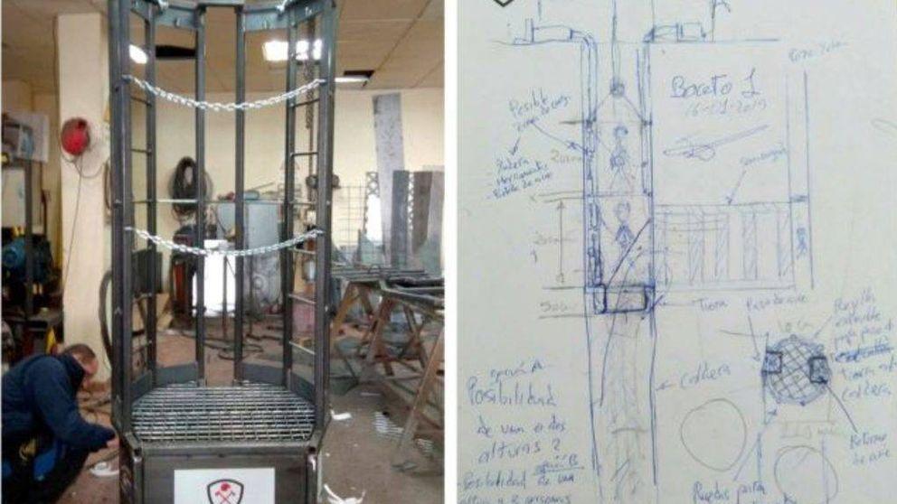 Este es el 'ascensor' ideado por los bomberos con el que quieren rescatar a Julen del pozo