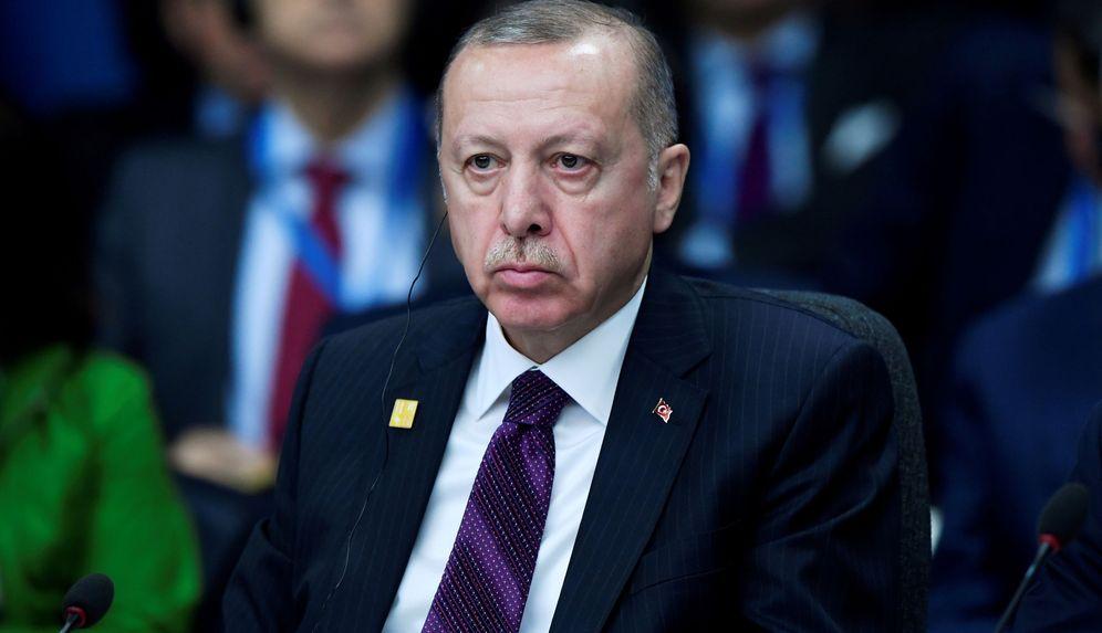 Foto: Erdogan, durante la reunión de la OTAN en Watford, Reino Unido. (Reuters)