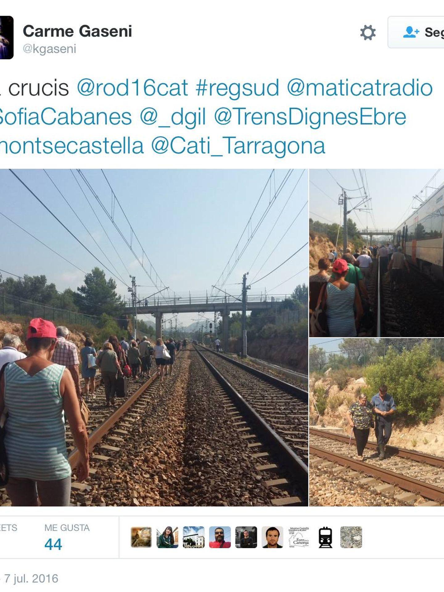 Una avería en Vandellós dejó a 200 pasajeros de Renfe en tierra el jueves.