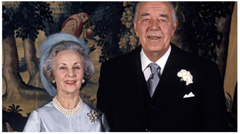 Los príncipes Bertil y Lilian May Davies, en su boda. (Casa Real de Suecia / Jan Collsiöö, Scanpix)