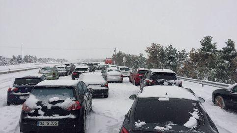 Consulta las carreteras cortadas en Madrid por el hielo