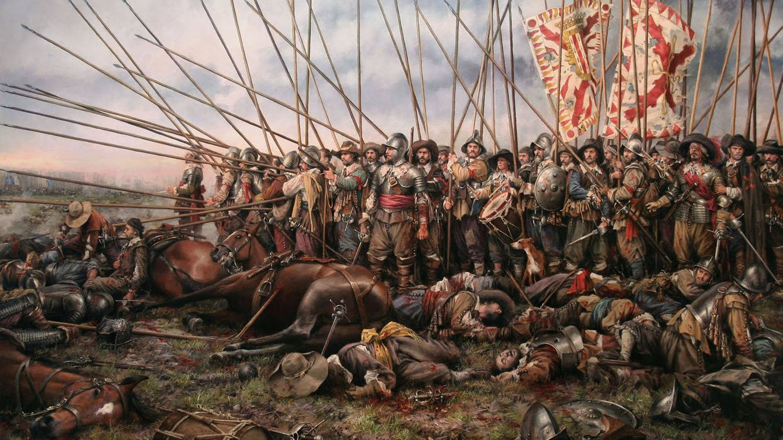Foto: Los tercios de Flandes según Augusto Ferrer-Dalmau.