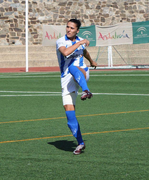 Foto: Elena Pavel, jugadora del Sporting de Huelva