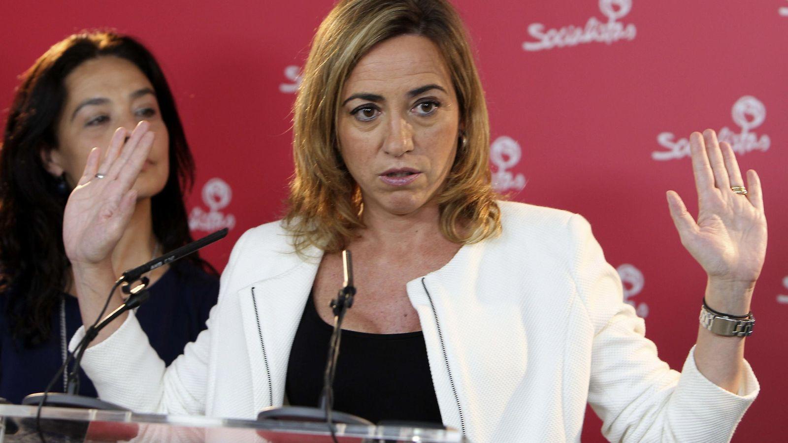 Foto: La secretaria de Relaciones Internacionales de la Ejecutiva Federal del PSOE, Carme Chacón. (EFE)