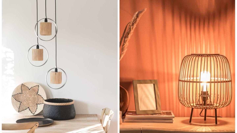 Lámparas de Maisons du Monde. (Cortesía)