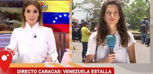 Post de Una reportera de Carme Chaparro se la juega en Venezuela: