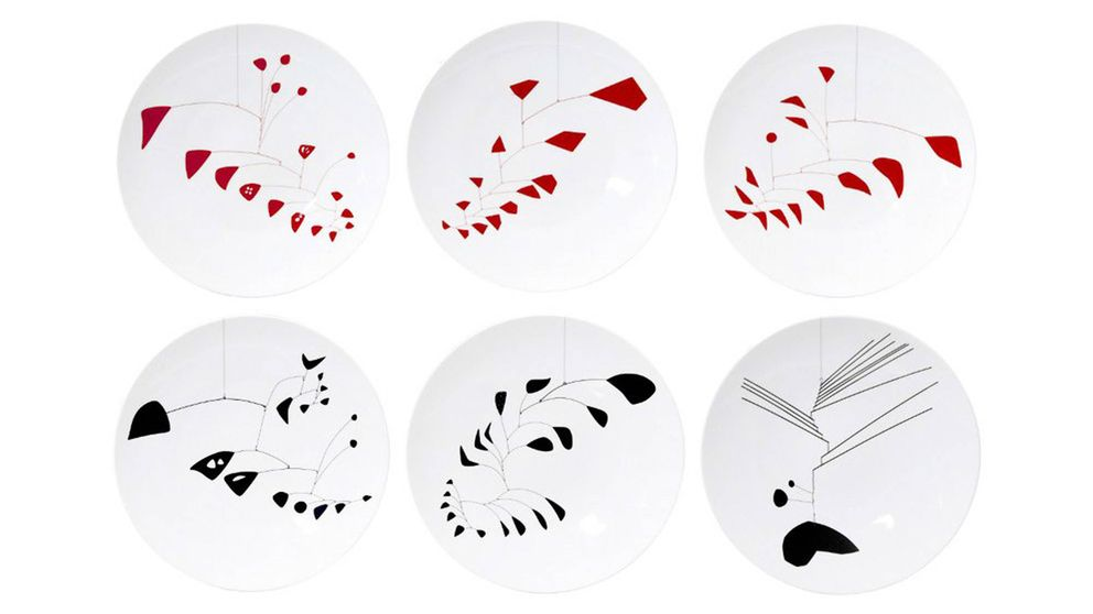 Platos para postre de Alexander Calder