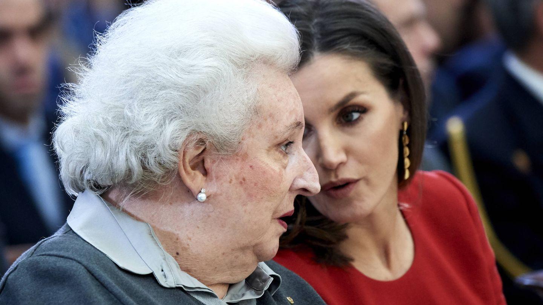 La Infanta junto a la reina Letizia. (Getty)