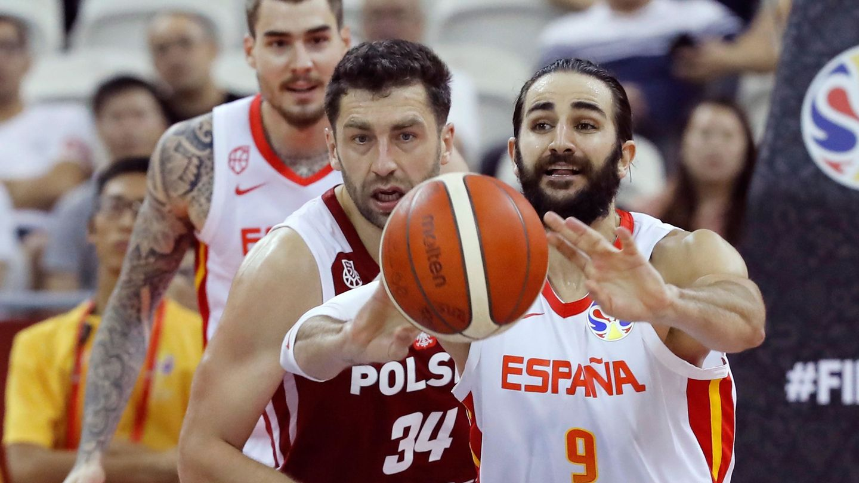 Ricky Rubio terminó con 19 puntos, nueve asistencias y cinco rebotes el partido entre España y Polonia. (EFE)
