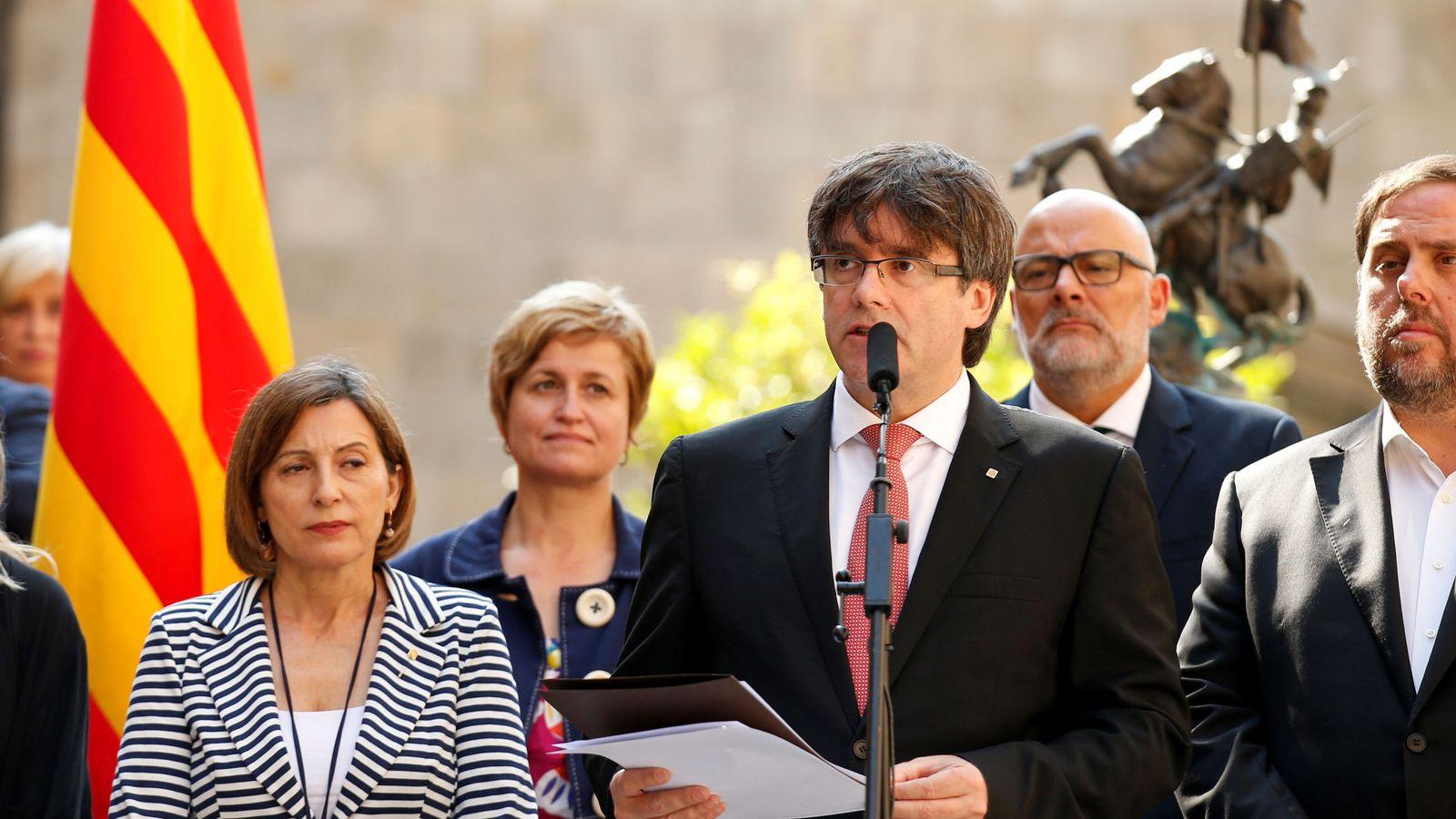 Banco Sabadell y Caixa Cataluña apoyan el proceso independentista.