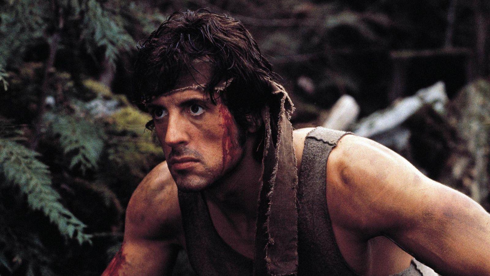 Foto: Sylvester Stallone en 1982 en un fotograma de 'Acorralado'. (Ízaro Films)