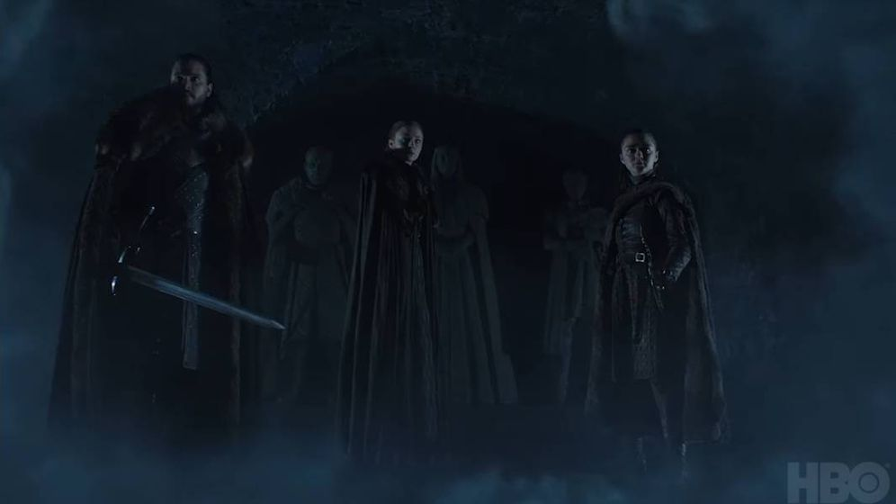 Foto: Imagen del tráiler de la octava temporada de 'Juego de Tronos'. (HBO)