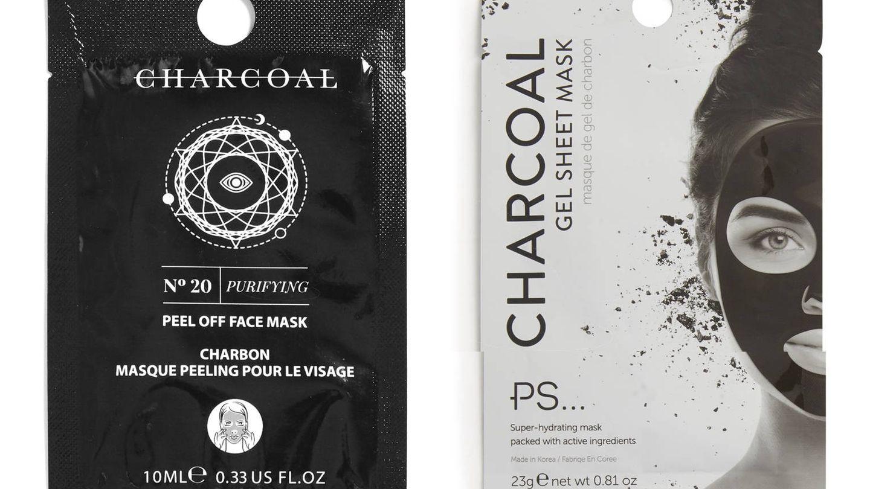 Mascarillas charcoal de Primark (1,5 € y 3 €, respectivamente).