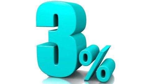 Bienvenidos a la corrección del 'tres per cent'