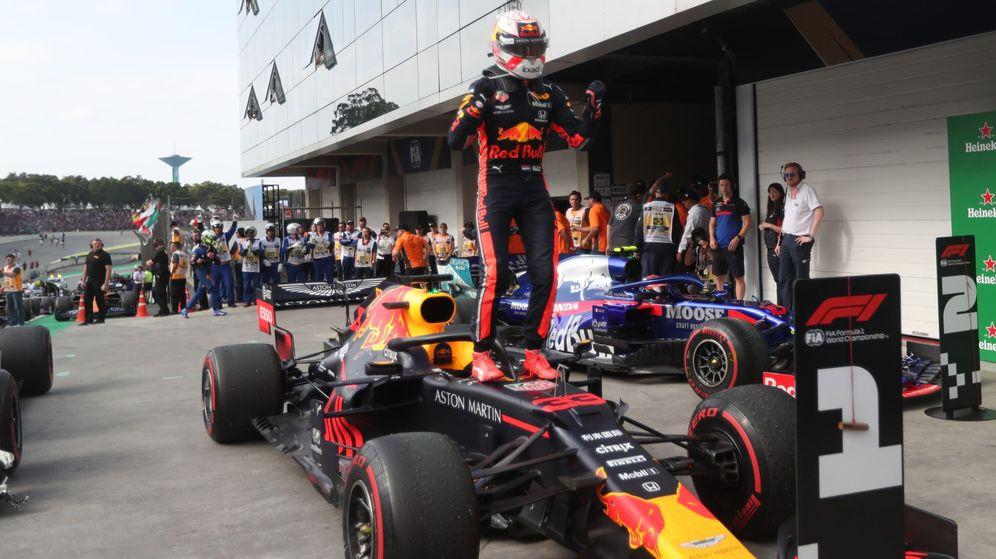 Foto: Verstappen venció en una carrera loca en Brasil. (EFE)