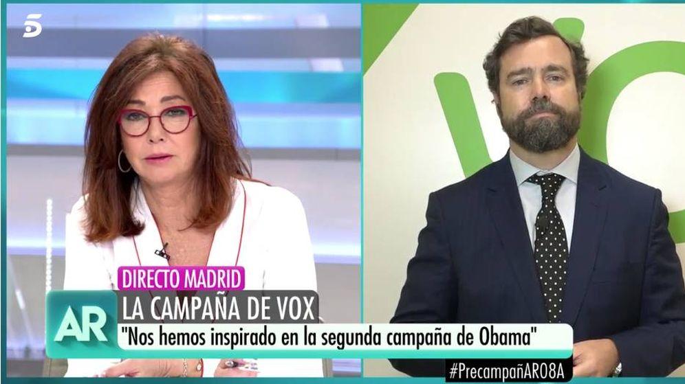 Foto: Ana Rosa Quintana e Iván Espinosa de los Monteros. (Mediaset)