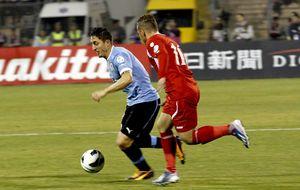 Uruguay arriesga lo justo ante Jordania para estar en Brasil