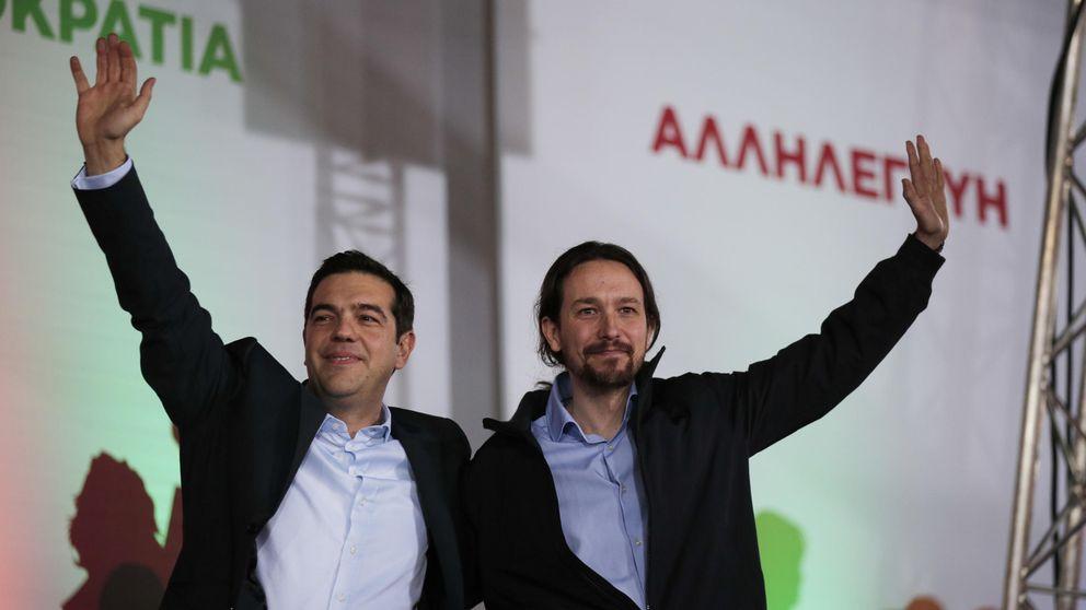 Alexis Tsipras ignoró el saludo de Pablo Iglesias en el Parlamento Europeo