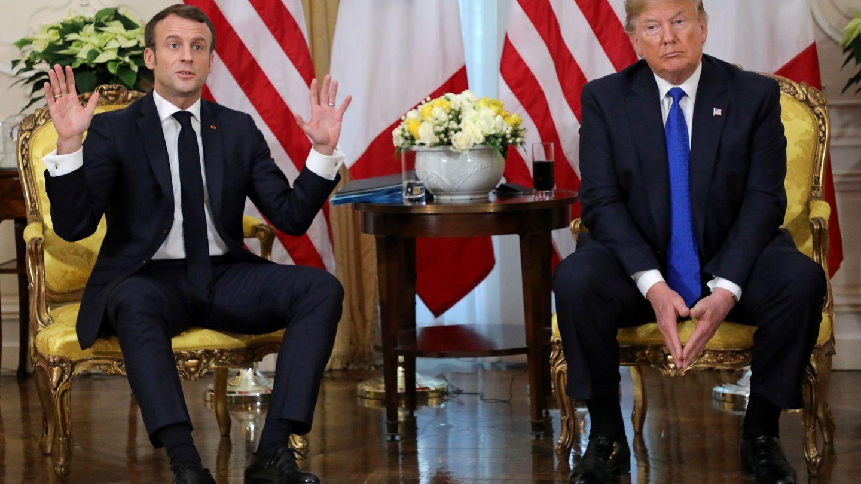 Emmanuel Macron y Donald Trump, en un encuentro. (Reuters)