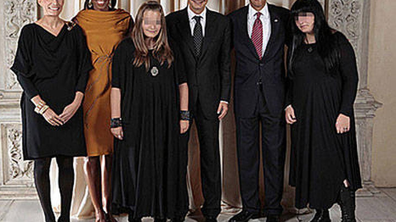 La famosa fotografía de las hijas de Zapatero y los Obama. (Gtres)