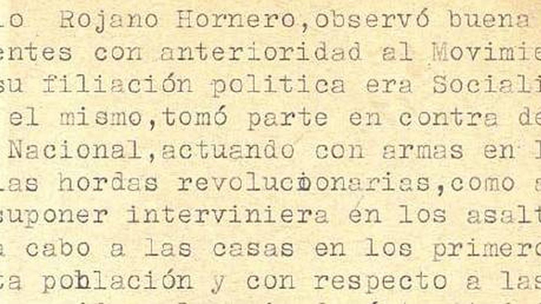 Causas de la condena de 20 años, según la documentación del Archivo.