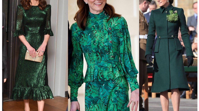 Kate, de verde. (Getty/Reuters/Cordon Press)