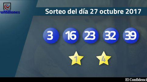 Resultados del sorteo del Euromillones del 27 de octubre de 2017