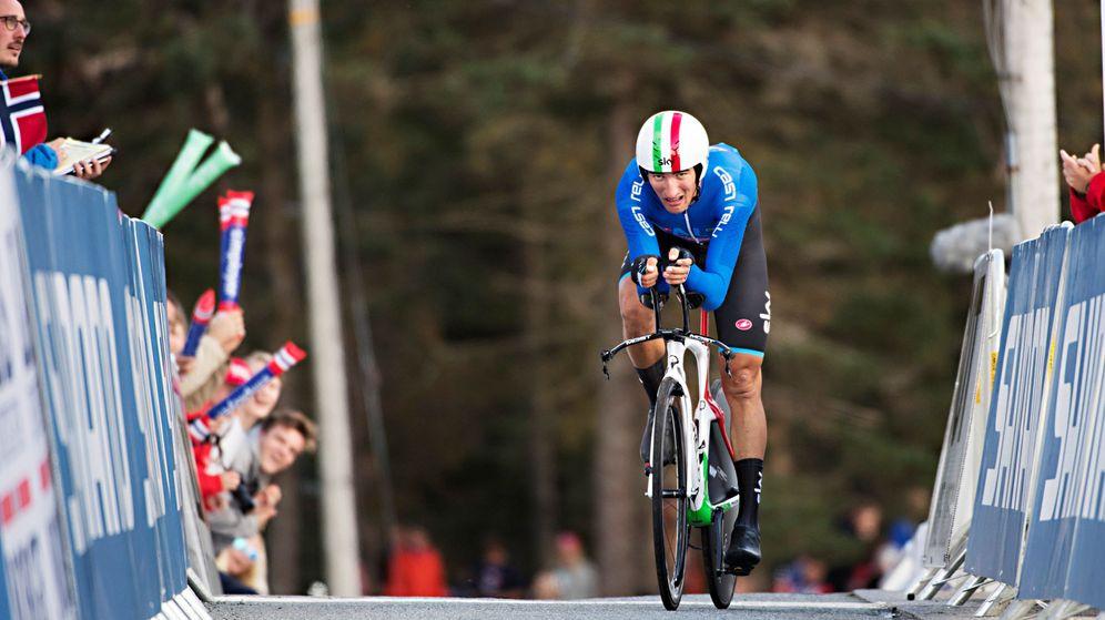 Foto: Moscon fue descalificado en el Mundial de Bergen. (Reuters)