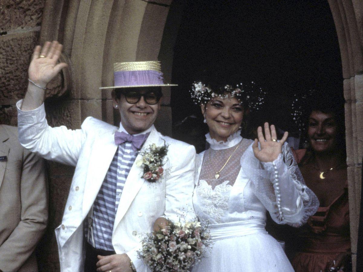 Foto:  La boda de Elton John y Renate Blauel. (Getty)