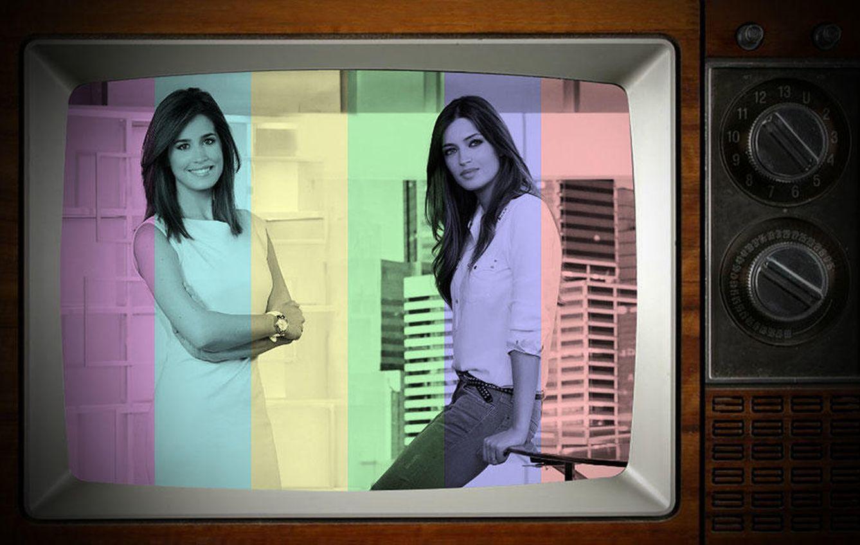 Foto: Isabel Jiménez y Sara Carbonero en un fotomontaje realizado por 'Vanitatis'