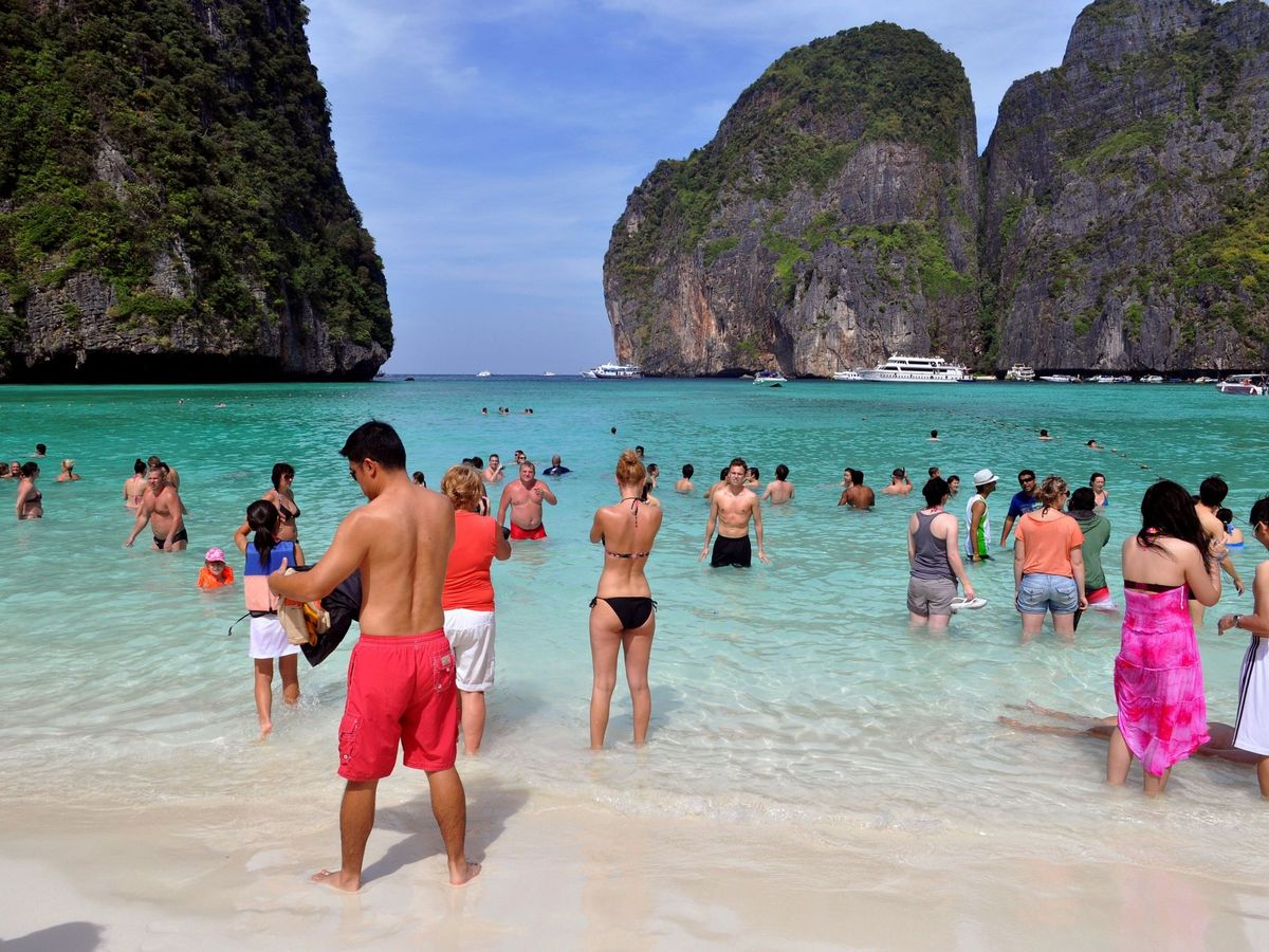 Foto: Playa de Maya Bay, en una foto de archivo. (EFE)