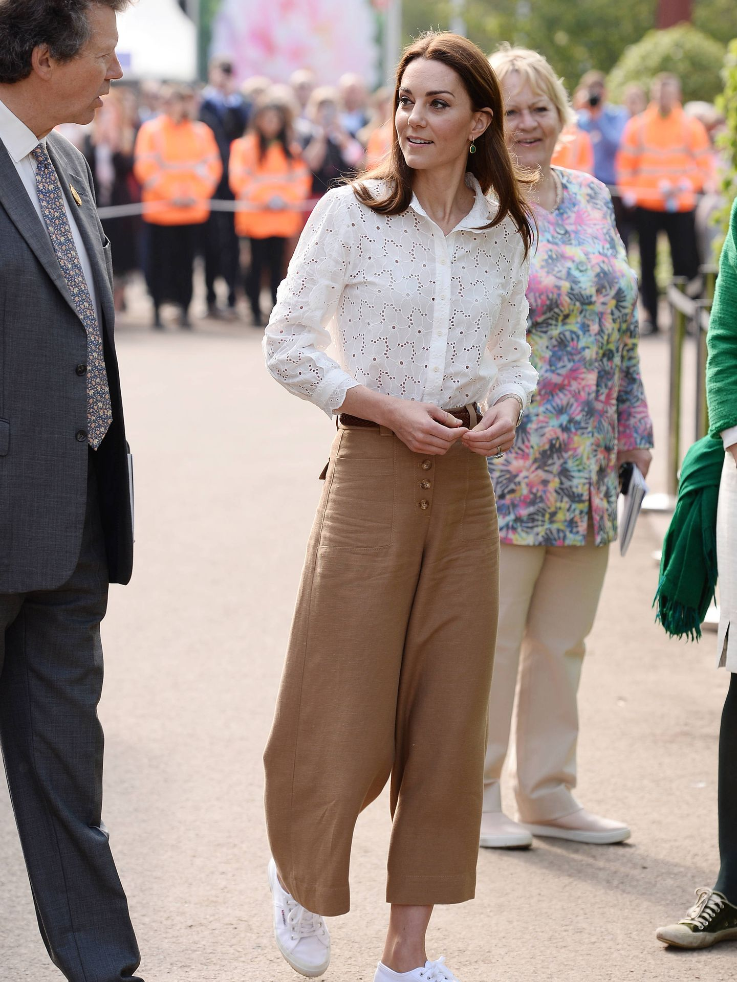 Kate Middleton, en el Chelsea Flower Show 2019. (Getty)