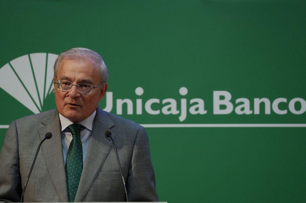 Foto: El presidente de Unicaja Banco, Manuel Azuaga