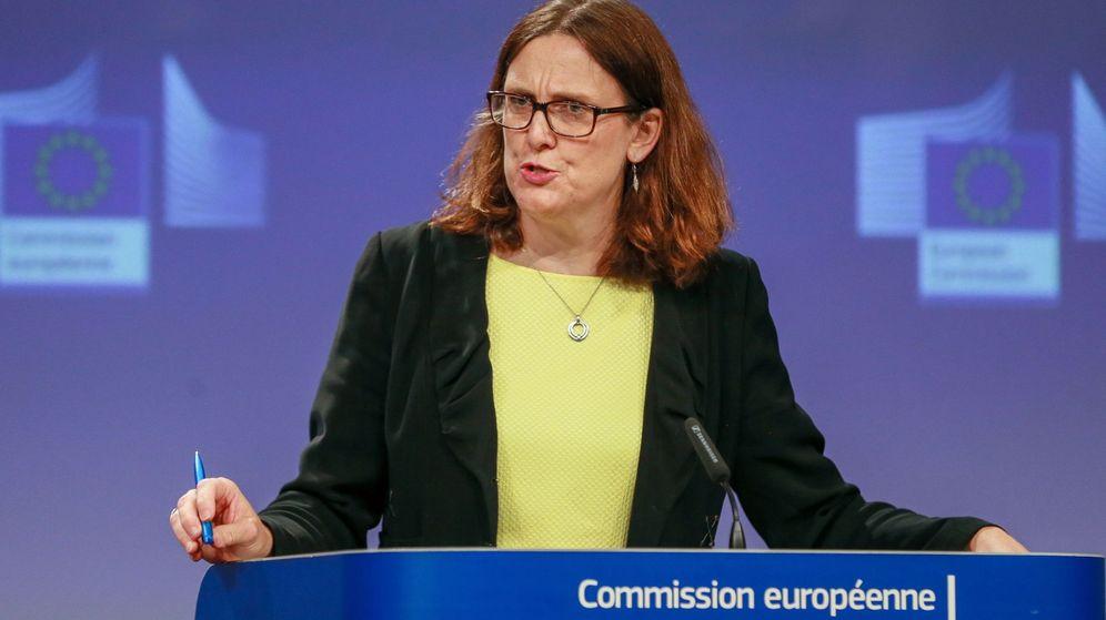 Foto: La comisaria europea de Comercio, Cecilia Malmström, en Bruselas el pasado 1 de junio. (EFE)