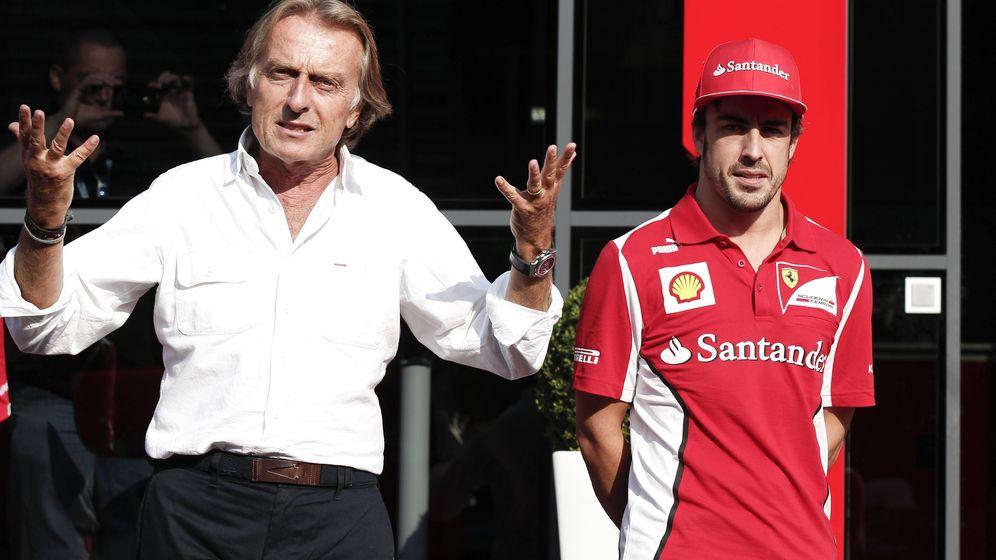 Foto: Luca di Montezemolo y Fernando Alonso en la etapa en la que coincidieron en Ferrari.