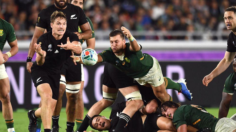 Foto: Nueva Zelanda venció a Sudáfrica en su primer partido en el Mundial de Japón. (Reuters)