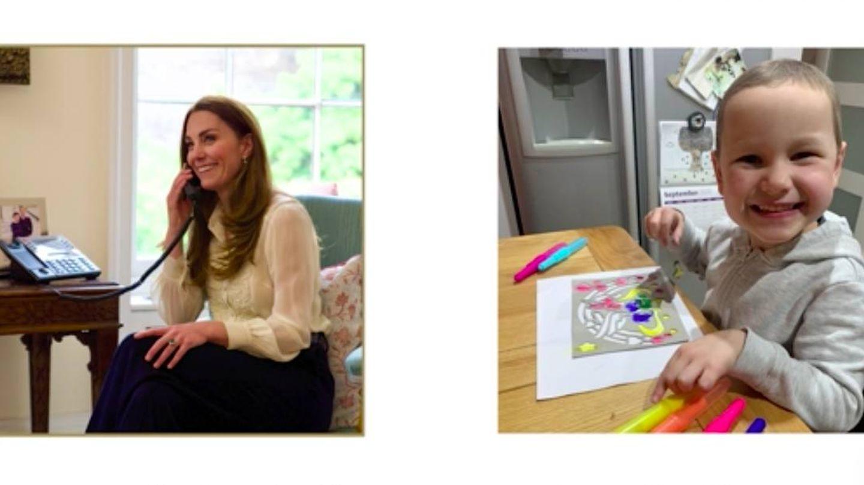Kate Middleton, en conversación telefónica con la pequeña Mila. (YouTube Duques de Cambridge)
