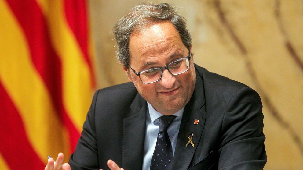 Torra presiona a Torrent: el Parlament tiene que reaccionar a la sentencia del 'procés'