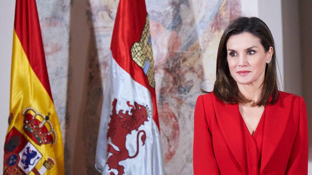 Foto: La reina Letizia en su acto de Valladolid. (Limited Pictures)