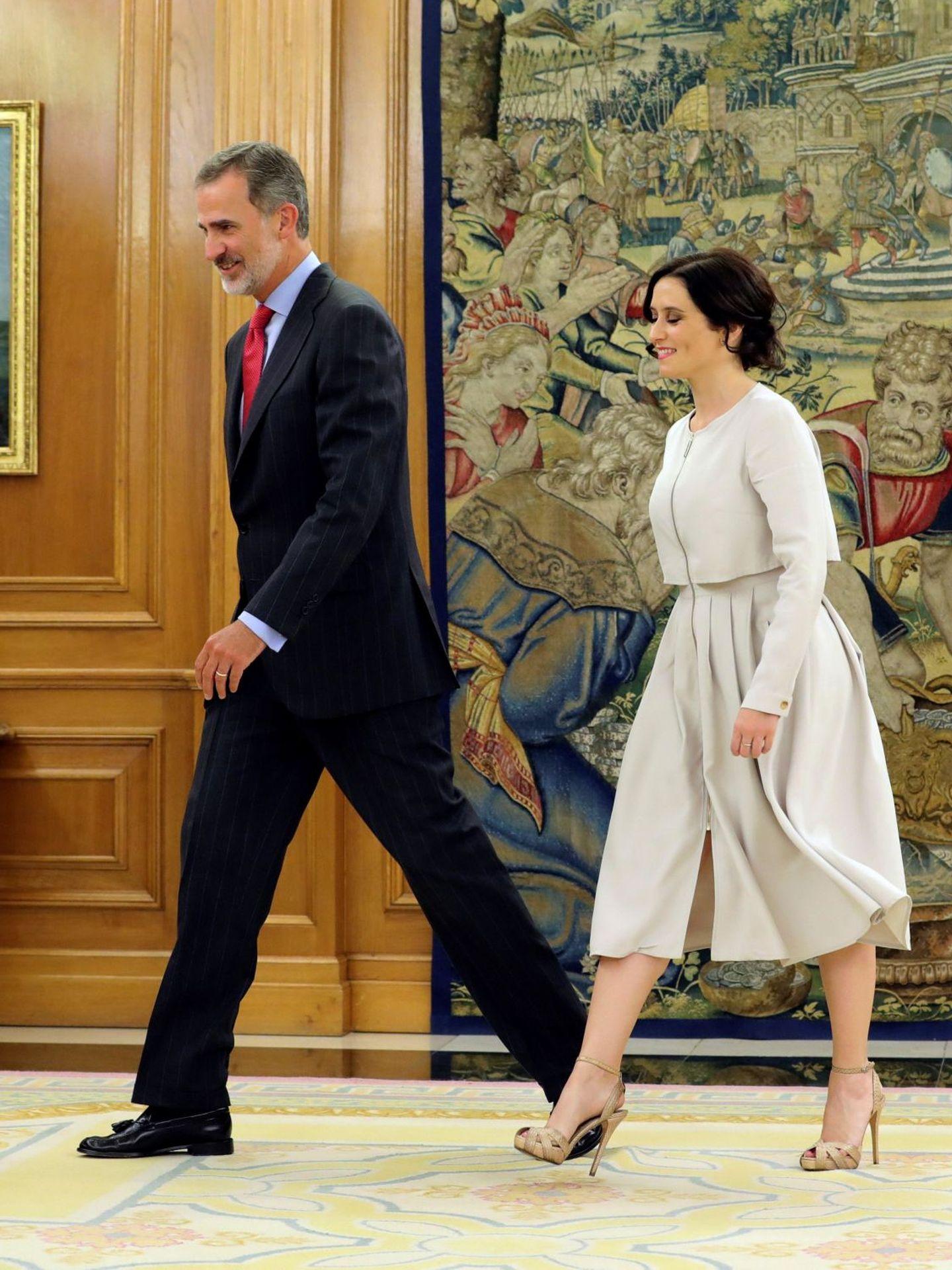 Felipe VI recibe en audiencia a la presidenta de la Comunidad de Madrid, Isabel Díaz Ayuso. (EFE)