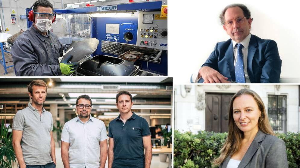 Foto: Partido con los empresarios que han participado en el reportaje. (EC)