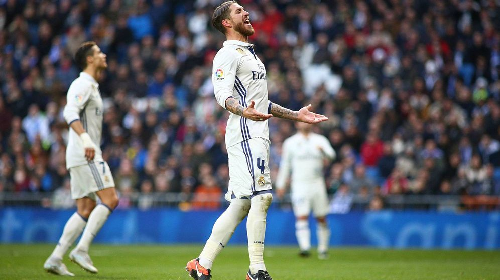 Foto: Sergio Ramos volvió a liderar al Madrid (Cordon Press).