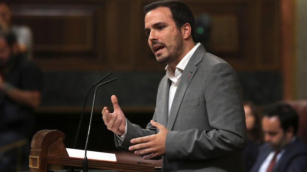 Foto: El líder de Izquierda Unida, Alberto Garzón, durante su intervención en el debate de investidura. (EFE)