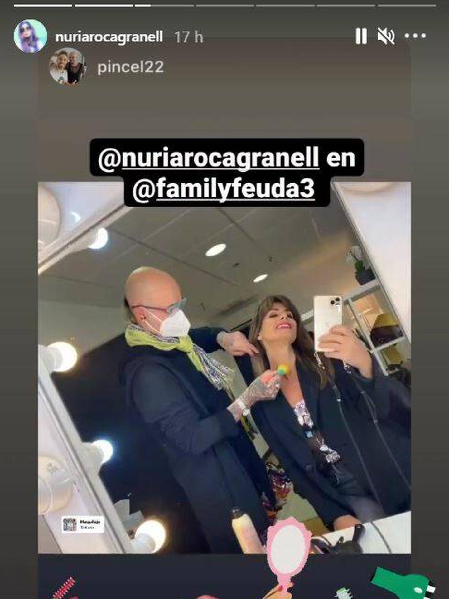 Nuria Roca, poniéndose a punto. (IG)