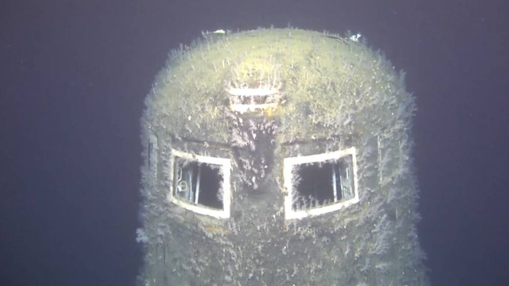 Foto: Imagen del submarino K-278 soviético, hundido en el Mar de Noruega. (CC/EPA)